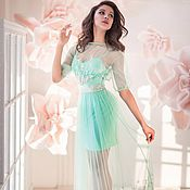 Одежда handmade. Livemaster - original item Mint dress designer. Handmade.