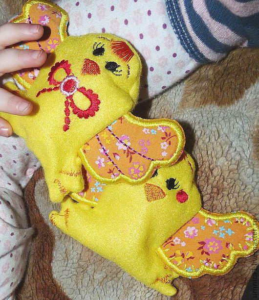 """Развивающие игрушки ручной работы. Ярмарка Мастеров - ручная работа. Купить Пасхальные подарки: погремушки """"Желтый цыпленок"""". Handmade. Желтый"""