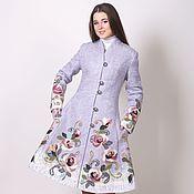 Одежда ручной работы. Ярмарка Мастеров - ручная работа Пальто из шерсти Кокетка. Handmade.