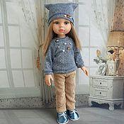 """Одежда для кукол ручной работы. Ярмарка Мастеров - ручная работа Брючный комплект""""сине-бежевый"""" для Паола Рейна. Handmade."""
