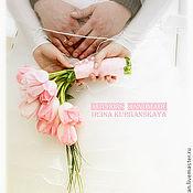 Свадебный салон ручной работы. Ярмарка Мастеров - ручная работа Весенний букет невесты Розовый тюльпан. Handmade.