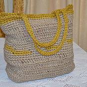 Классическая сумка ручной работы. Ярмарка Мастеров - ручная работа Сумка джутовая большая. Handmade.