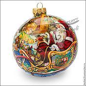 """Подарки к праздникам ручной работы. Ярмарка Мастеров - ручная работа Елочный шар """" Новогодние подарки"""". Handmade."""