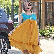 Одежда ручной работы. Ярмарка Мастеров - ручная работа Льняное платье. Вышитое платье. Летнее платье.. Handmade.