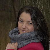 Аксессуары handmade. Livemaster - original item Snood collar scarf tube knit. Handmade.