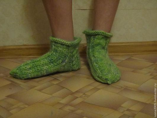 Носки, Чулки ручной работы. Ярмарка Мастеров - ручная работа. Купить Волшебные носки. Handmade. Оливковый, абстрактный, исполнение желаний