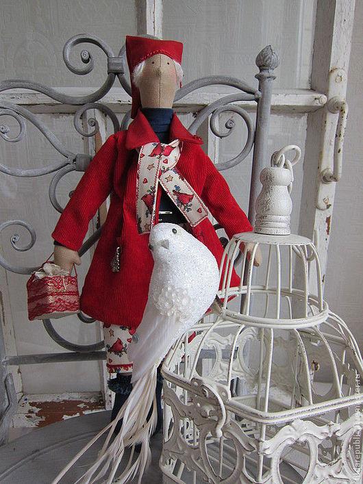 """Куклы Тильды ручной работы. Ярмарка Мастеров - ручная работа. Купить Тильда Талви """"Зима всё злится, злится..."""" (для Елены). Handmade."""