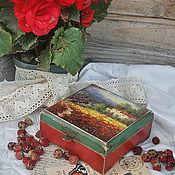 """Для дома и интерьера ручной работы. Ярмарка Мастеров - ручная работа шкатулка """"Les peintures de la Provence"""". Handmade."""