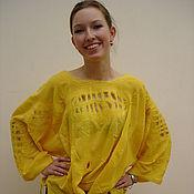 Одежда ручной работы. Ярмарка Мастеров - ручная работа Блуза жёлтая. Handmade.