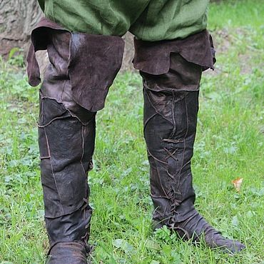 Обувь ручной работы. Ярмарка Мастеров - ручная работа Сапоги коричневые кожаные. Handmade.