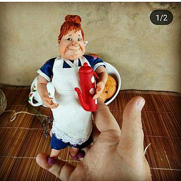 Куклы и игрушки ручной работы. Ярмарка Мастеров - ручная работа Фрекен Бок - игрушка подвеска. Handmade.