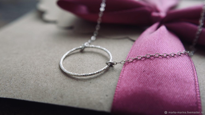 Chain around the neck with circle Eternity, Pendant, Samara,  Фото №1