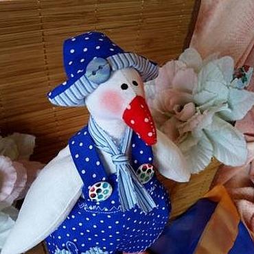 Куклы и игрушки ручной работы. Ярмарка Мастеров - ручная работа Гусь горошек (резерв). Handmade.