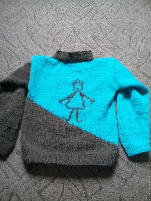 """Одежда унисекс ручной работы. Ярмарка Мастеров - ручная работа. Купить Детский джемпер """"Человечки"""". Handmade. Комбинированный, свитер для девочки"""