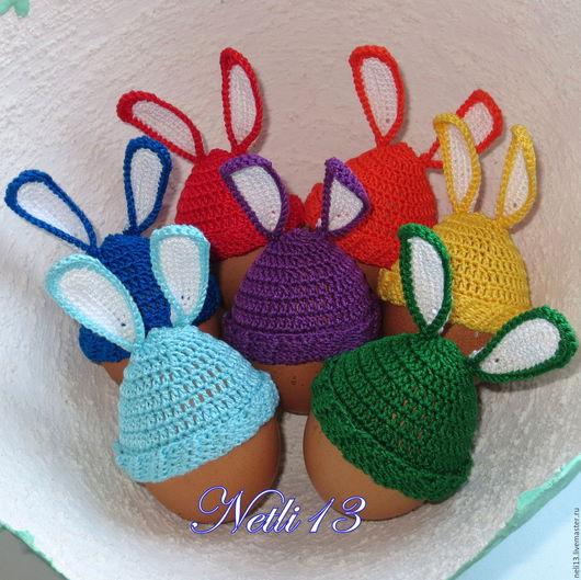 Шапочки на пасхальные яйца `Ушастая радуга`. Netli13 Основные цвета