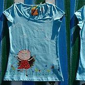Одежда ручной работы. Ярмарка Мастеров - ручная работа футболка женская SUMMERTIME. Handmade.