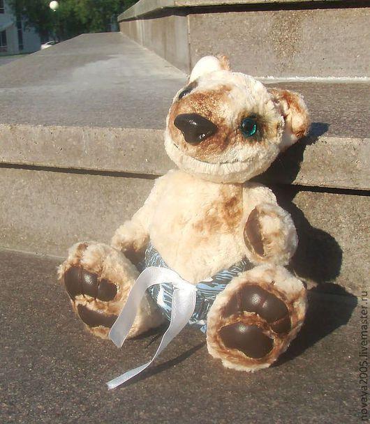 """Мишки Тедди ручной работы. Ярмарка Мастеров - ручная работа. Купить """"Ванюшка"""". Handmade. Бежевый, собака, подарок, озорной"""