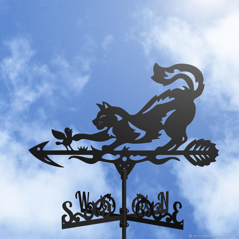 Weather vane on the roof ' Cat and bird', Vane, Ivanovo,  Фото №1