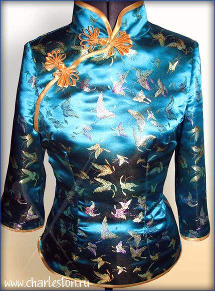 Блузки ручной работы. Ярмарка Мастеров - ручная работа. Купить Блузка в китайском стиле. Handmade. Блузка в китайском стиле, орнамент