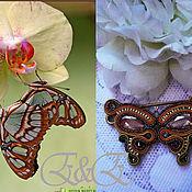 """Украшения ручной работы. Ярмарка Мастеров - ручная работа Брошь-булавка """"Butterfly"""".. Handmade."""