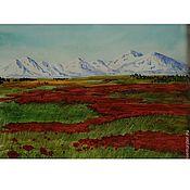 Картины и панно ручной работы. Ярмарка Мастеров - ручная работа Степь цветет. Handmade.