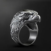 Украшения handmade. Livemaster - original item Ring: Eagle ring. Handmade.