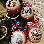 Подарки к праздникам handmade. Livemaster - original item Christmas English Christmas tree balls. Handmade.