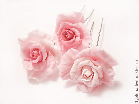 Заколки ручной работы. Ярмарка Мастеров - ручная работа. Купить шпилька Роза. Handmade. Розовый, украшения ручной работы, Бижутерия