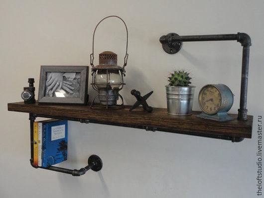 Мебель ручной работы. Ярмарка Мастеров - ручная работа. Купить Полка из водопроводной трубы в стиле Loft. Handmade. Черный, Мебель