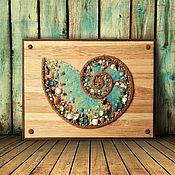 Картины и панно handmade. Livemaster - original item Panel AMMONITE. Handmade.