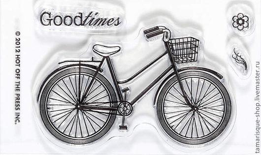 Открытки и скрапбукинг ручной работы. Ярмарка Мастеров - ручная работа. Купить Штамп «Велосипед». Handmade. Чёрно-белый, штампы для скрапа