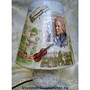 """Для дома и интерьера ручной работы. Ярмарка Мастеров - ручная работа """"Зальцбург-город Моцарта"""", лампа. Handmade."""