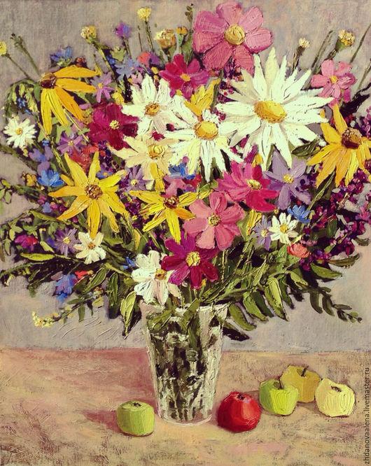Картины цветов ручной работы. Ярмарка Мастеров - ручная работа. Купить Радость лета. Handmade. Полевые цветы, Живопись, счастье