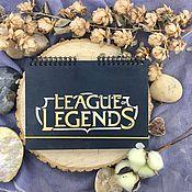 Канцелярские товары handmade. Livemaster - original item League of Legends/League of Legends Wooden notebook / Sketchbook. Handmade.
