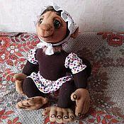 Куклы и игрушки handmade. Livemaster - original item Monkey Mama. Tablet puppets.. Handmade.