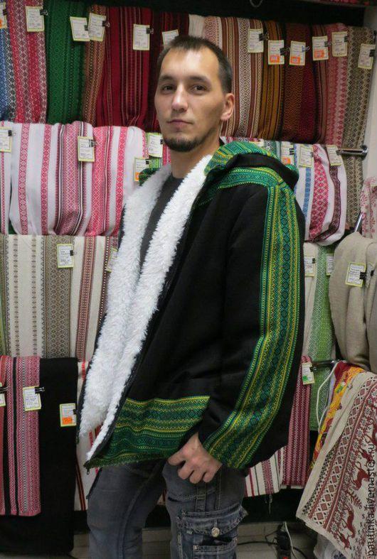 Для мужчин, ручной работы. Ярмарка Мастеров - ручная работа. Купить Куртка мужская УЗОРНАЯ. Handmade. Комбинированный, смесовая ткань