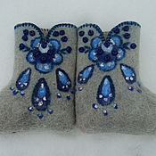 Обувь ручной работы. Ярмарка Мастеров - ручная работа Валенки-малютки для девочки. Handmade.
