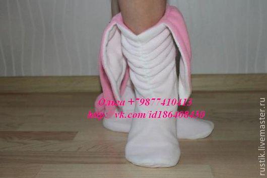 Обувь ручной работы. Ярмарка Мастеров - ручная работа. Купить Тапочки зайчики. Handmade. Тапочки ручной работы, тапочки, войлок
