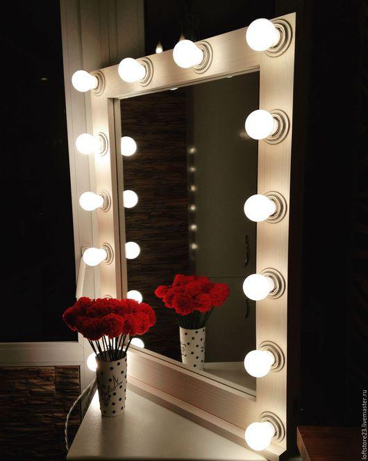 Декоративная косметика ручной работы. Ярмарка Мастеров - ручная работа. Купить Зеркало визажиста. Handmade. Комбинированный, зеркало в раме