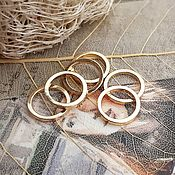Материалы для творчества handmade. Livemaster - original item 1 PCs. Connector ring 10x1 mm gold plated (3505). Handmade.