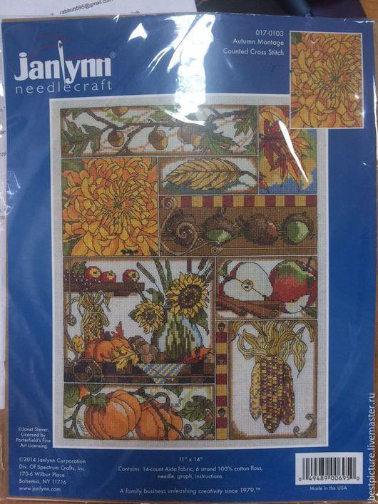 Вышивка ручной работы. Ярмарка Мастеров - ручная работа. Купить Autum Montage (017-0103), Janlynn наборы для вышивания. Handmade.