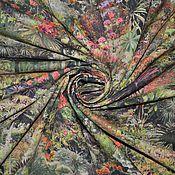 """Ткани ручной работы. Ярмарка Мастеров - ручная работа Рубашечный хлопок """"Джунгли"""". Handmade."""