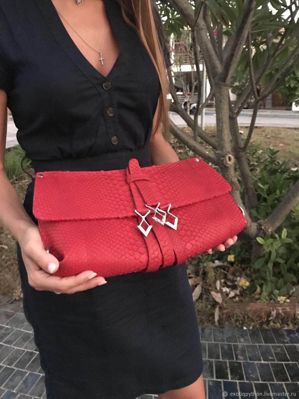 Taniya Python leather handbag, Classic Bag, Moscow,  Фото №1