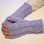 Аксессуары handmade. Livemaster - original item Warm knitted mittens with braids (SWC). Handmade.