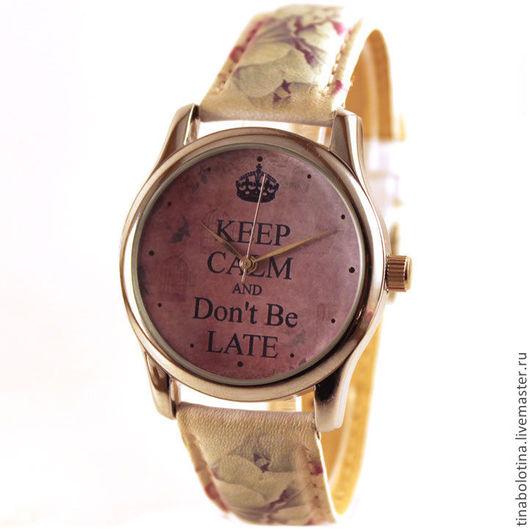 Часы ручной работы. Ярмарка Мастеров - ручная работа. Купить Дизайнерские наручные часы Do not Be Late. Handmade.