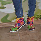 """Обувь ручной работы. Ярмарка Мастеров - ручная работа кеды летние вязаные """"Лето"""". Handmade."""