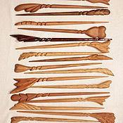 Заколки ручной работы. Ярмарка Мастеров - ручная работа Заколка деревянная резная. Handmade.