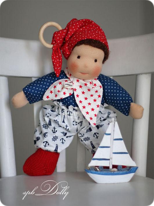 Вальдорфская игрушка ручной работы. Ярмарка Мастеров - ручная работа. Купить Морячок Марин - кукла игровая ручной работы для мальчика. Handmade.
