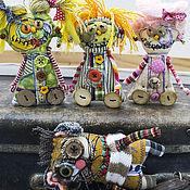 Куклы и игрушки ручной работы. Ярмарка Мастеров - ручная работа Ёшки-матрёшки и ихий ёшкин Кот) вуду игрушка текстильная. Handmade.
