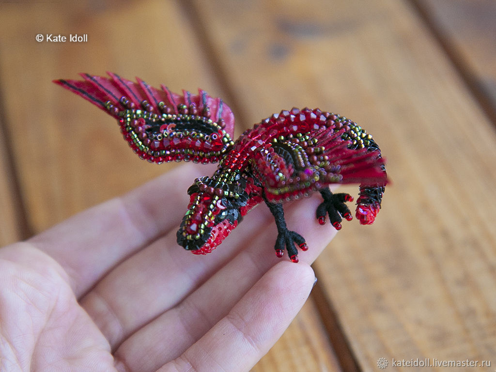 Brooch dragon Caraxes, Brooches, Kiev,  Фото №1